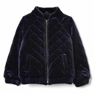 Baby Gap Navy Quilted Velour Bomber Jacket